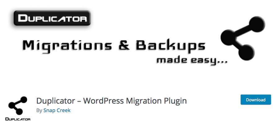 The Duplicator plugin.