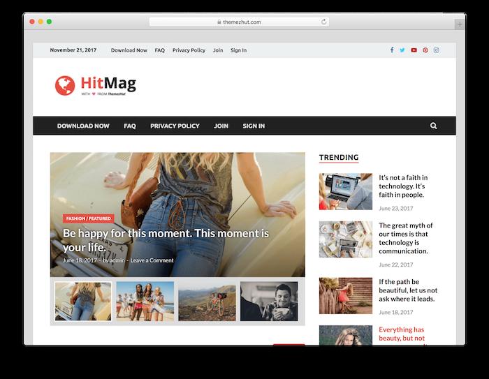 The HitMag theme.