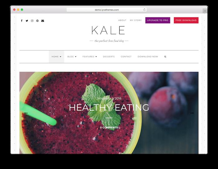 The Kale theme.