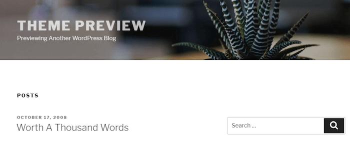The Twenty Seventeen WordPress Theme.