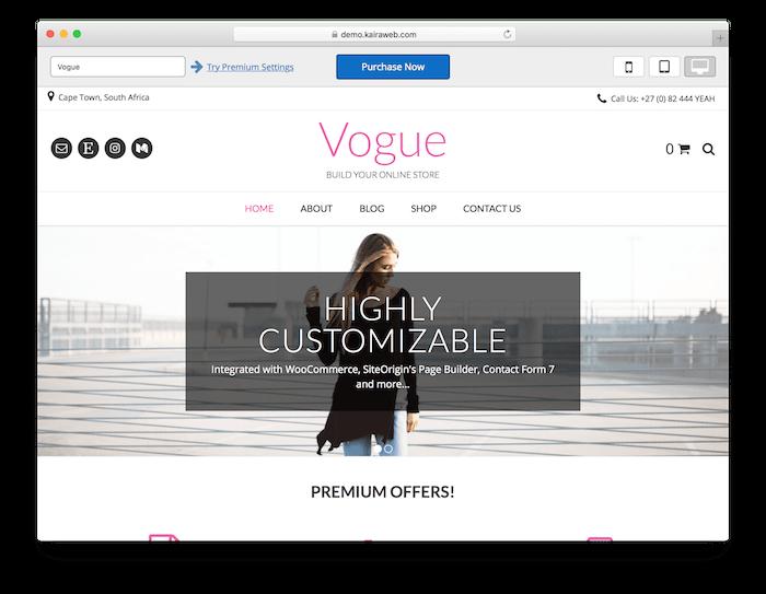 The Vogue theme.