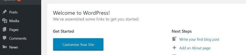 wordpress-news-menu