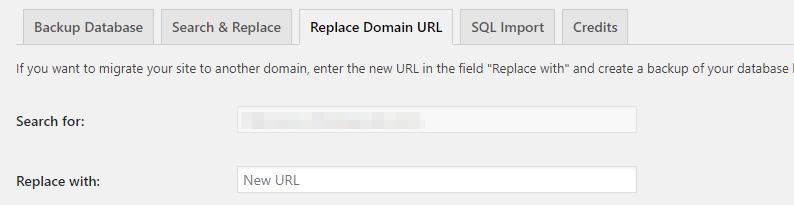 Replacing URLs within your website.