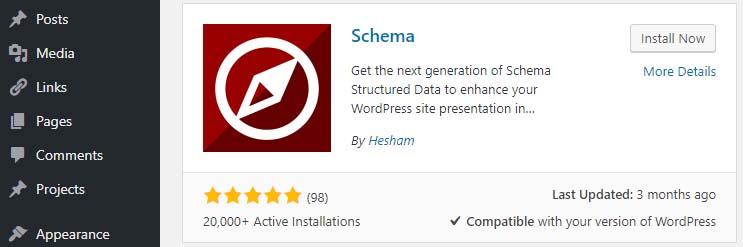 Installing the Schema plugin.