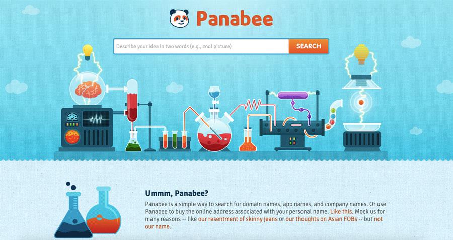 Screenshot of Panabee domain name generator 2018