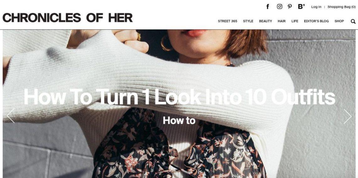 Screenshot of Chronicles of Her Fashion Blog