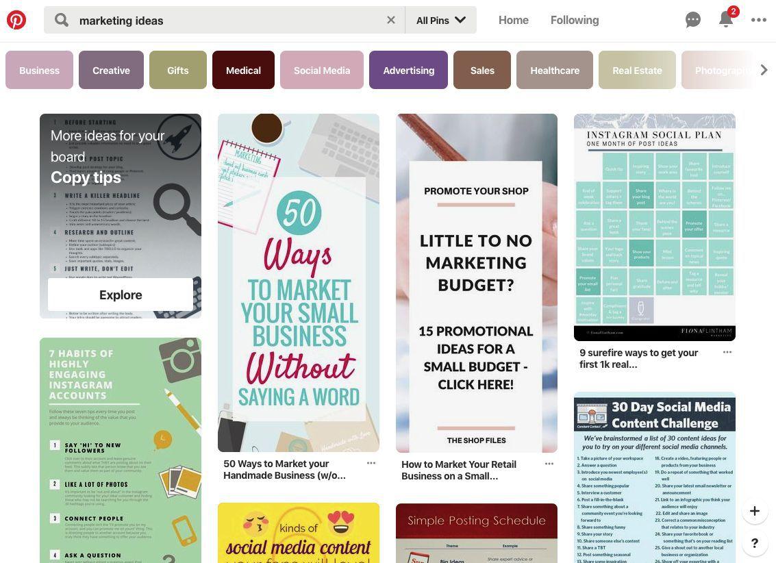 Pinterest marketing ideas for free advertising