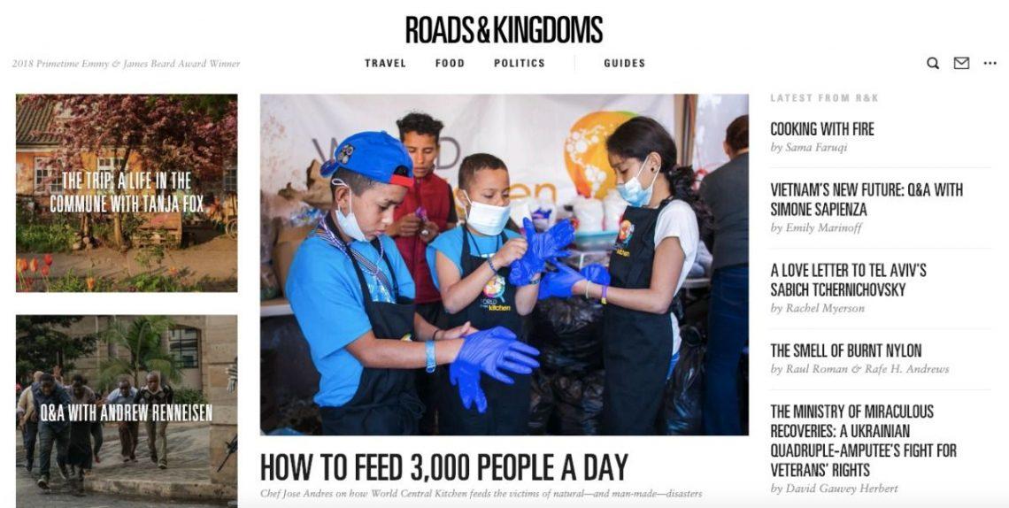 Screenshot of Roads and Kingdoms Fashion Blog