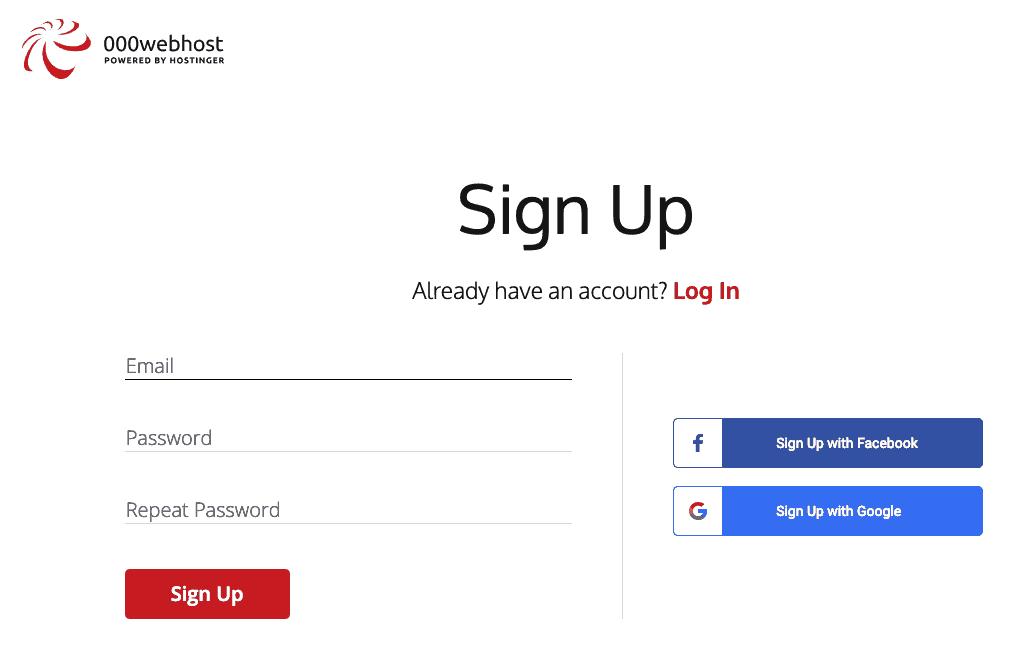 sign up for 000webhost for free hosting