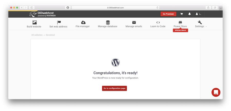 Wordpress is ready