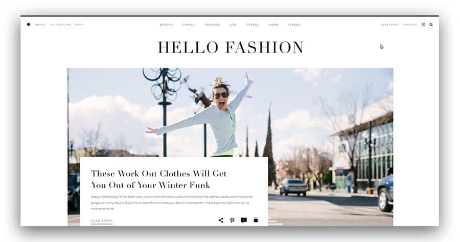 Hello Fashion as an example of a fashion blog ideas