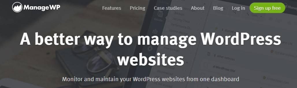 ManageWP's blog as endorsement