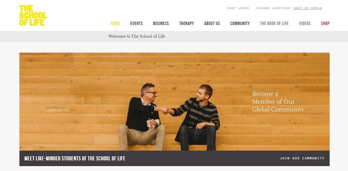 theschooloflife.com blog homepage