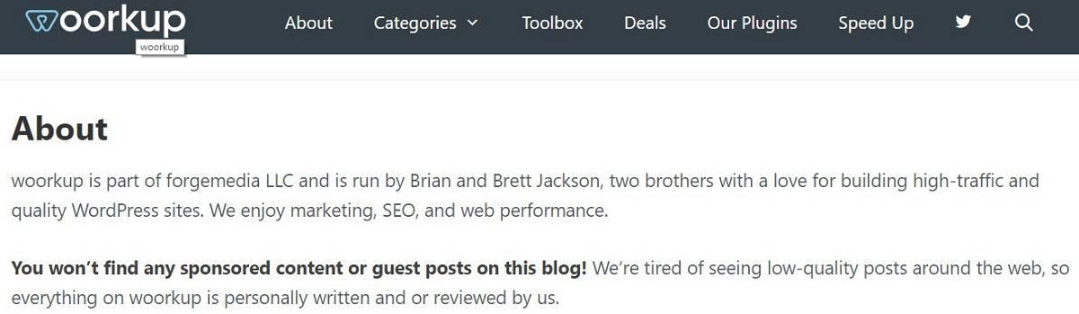 Woorkup's idealistic blog