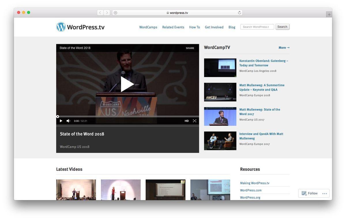 Learn WordPress from WordPressTV