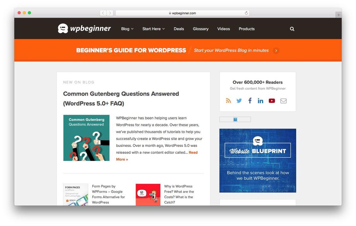 Learn WordPress from WPBeginner