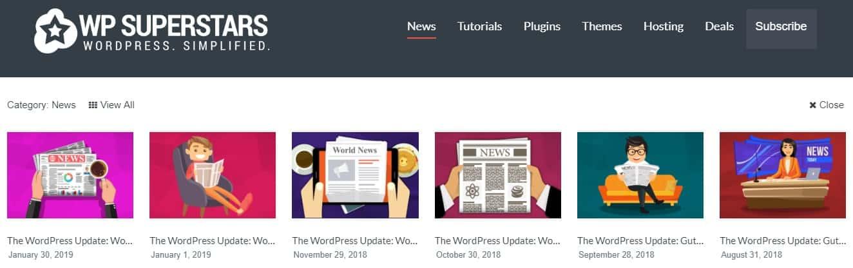WPSuperstars's blog categories