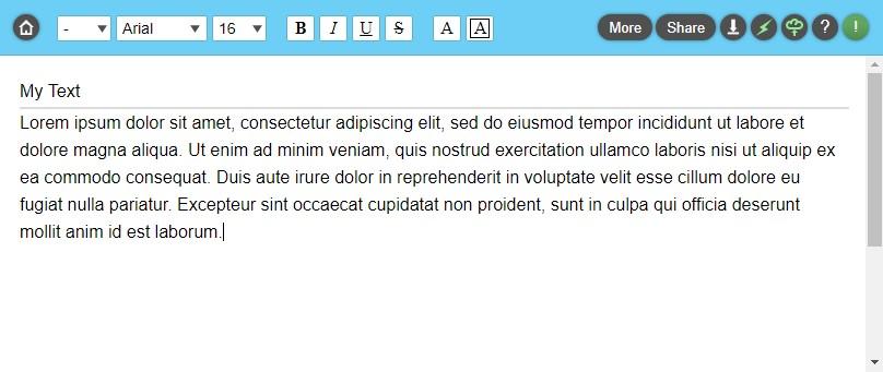 writeurl toolbar and page