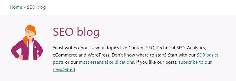 Yoast's perfect blog for SEO