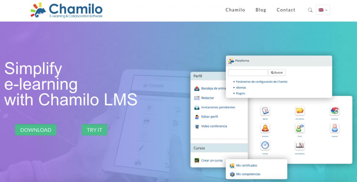 Chamilo cms homepage