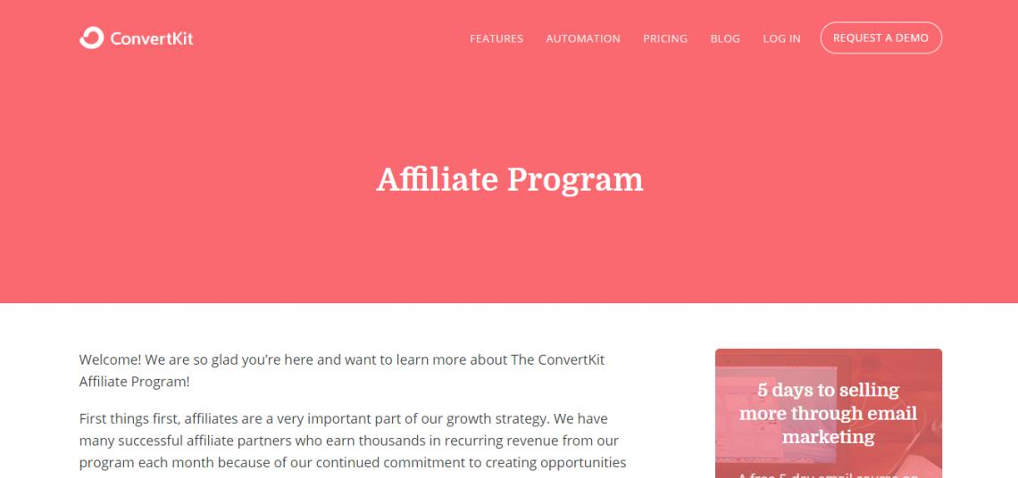 convert kit affiliate marketing program