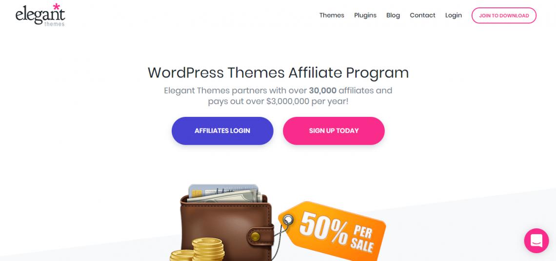 elegant themes affiliate marketing program