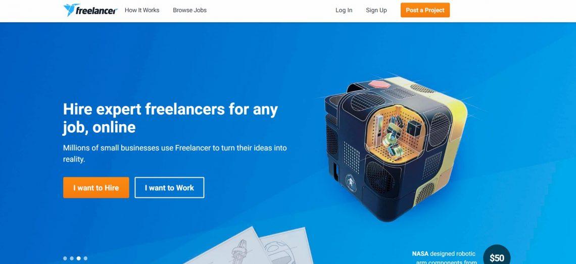 finding freelance jobs on freelancer is super easy