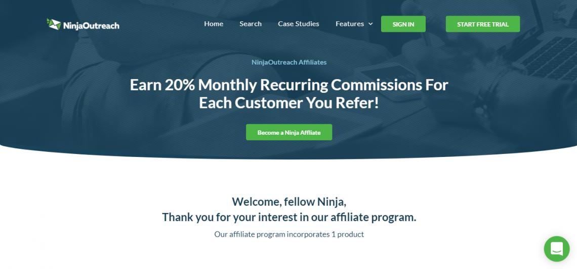 ninja outreach affiliate marketing program