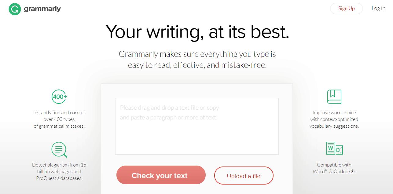 Grammarly Homepage