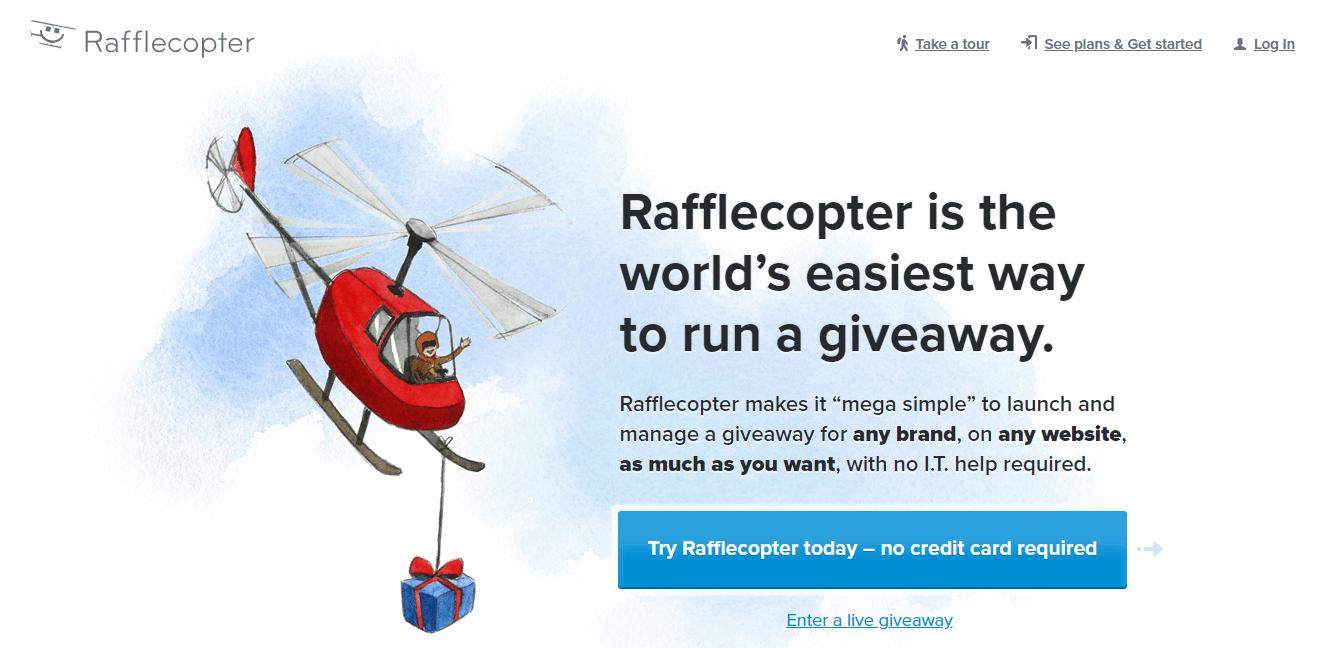 Rafflecopter Homepage