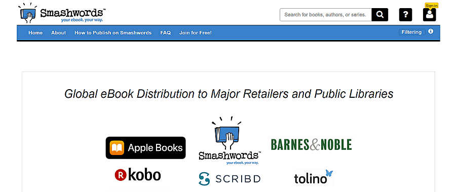 distribute ebook at smashwords