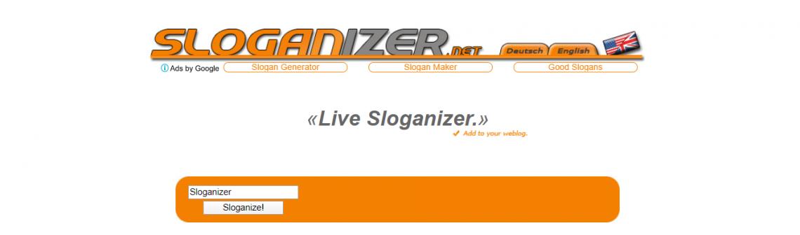 Sloganizer landing page