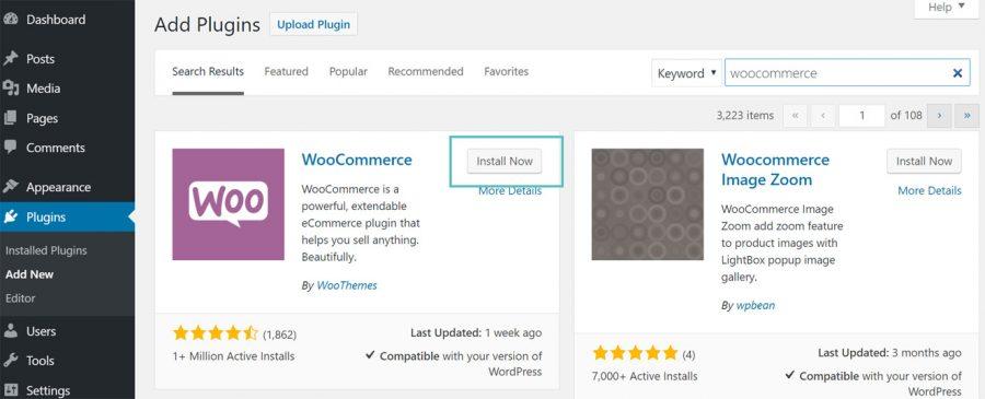 Automatic WooCommerce Installation