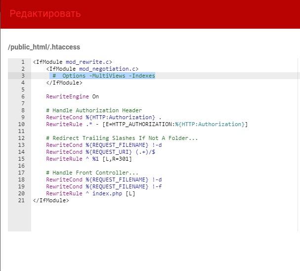 Internal Server Error when click any link (laravel