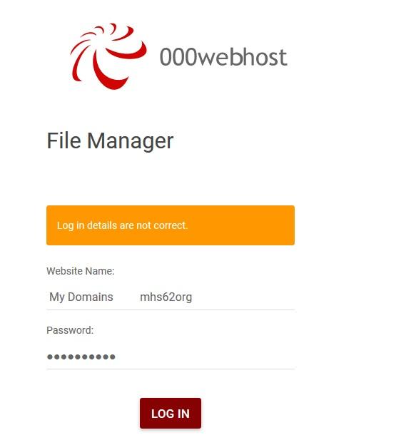 000webhost-FileMngrLoginNotCorrect-190918