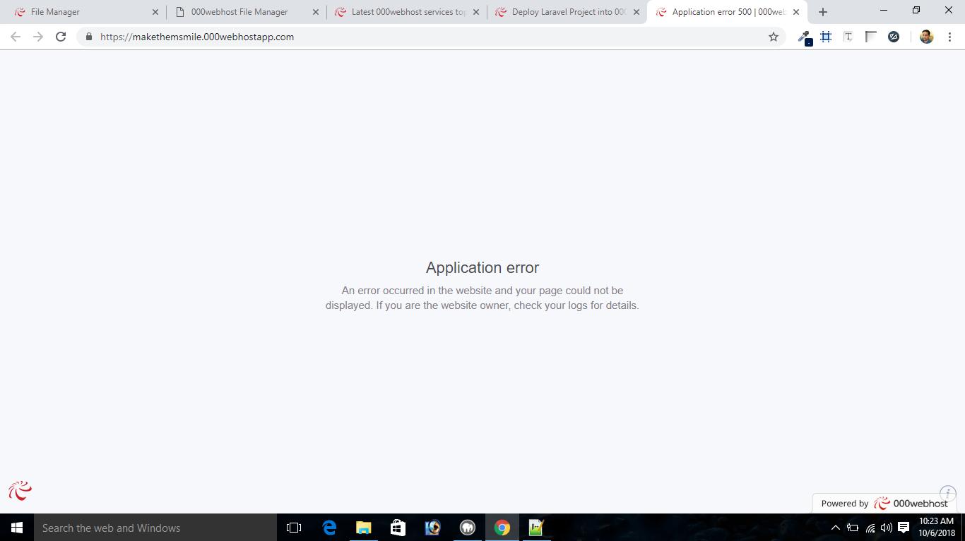 Application error 500 Wordpress site - Community support