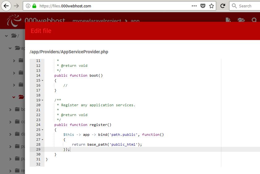 Deploy Laravel Project into 000webhost site - Tutorials - 000webhost