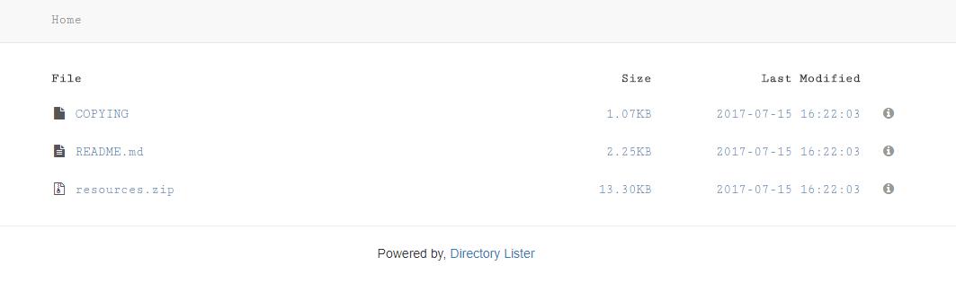 website directory lister